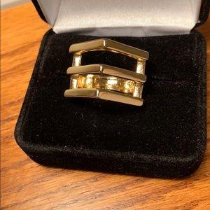 Premier Designs Jewelry - Premier Designs Ultra Modern Ring Gold Tone
